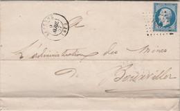 Yvert 14 - 4 Marges Lettre Cachet SAVERNE Bas Rhin 6/4/1857  PC 2841 Pour Bouxwiller - 1849-1876: Klassik