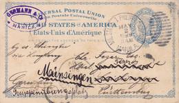 Entier Postal 1899 Philadelphie Pour L'Allemagne Avec Correspondance - ...-1900