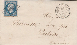 Yvert 14 - 4 Marges Lettre Cachet MAGNY En VEXIN Seine Et Oise 27/12/1856  PC 1830 Pour Pontoise - 1849-1876: Klassik