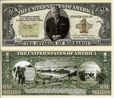 USA World War II Commemorative Novelty Banknote 1 Million Dollar 'D-Day' - UNC & CRISP - Autres - Amérique