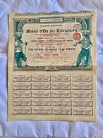 S.A.  Des  MINES  D' OR  Du  KATCHKAR  ------------Titre  De  5  Actions  Ordinaires - Miniere