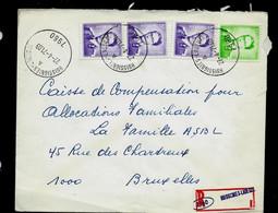 Env. (Ent.)  Obl. HUISSIGNIES - LADEUZE - A - ( 7960) Le 27/04/71 En Rec. (violet) - 1953-1972 Lunettes