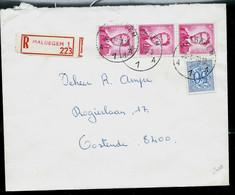 Env. (Ent.)  Obl. MALDEGEM - A 1 A - Du 20/05/70 En Rec. ( Rouge) - 1953-1972 Glasses