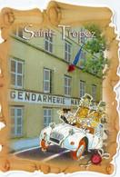 CPM - D - VAR - SAINT TROPEZ - LES GENDARMES DEVANT LA GENDARMERIE NATIONALE - Saint-Tropez