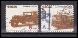 Portugal 2008 Transportes Públicos Urbanos Autoadesivos Transports Trasporto Transporte Taxi Oldsmobile Comp Electrica - Used Stamps