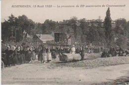 RARE.  (22) ROSTRENËN 15 Août 1925 . La Procession Du 25ème Anniversaire Du Couronnement (Cliché Lody) - Other Municipalities