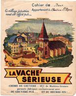 Protège Cahier - La Vache Sérieuse Crème De Gruyere  Pub Village Jurassien & Table Au Dos - Omslagen Van Boeken