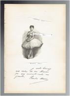 ROSITA MAURI SEGURA 1850 PALMA DE MALLORCA 1923 PARIS DANSEUSE ESPAGNE PORTRAIT AUTOGRAPHE BIOGRAPHIE ALBUM MARIANI - Documents Historiques