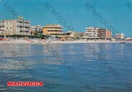 CARTOLINA  MARZOCCA,ANCONA,MARCHE.LA SPIAGGIA,BAGNI,BARCHE A VELA,VACANZA,ESTATE,MARE,SOLE,VIAGGIATA 1981 - Ancona