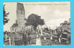 CPA YVETOT BOCAGE L'Eglise Et Le Cimetière - Arrondissement De Valognes 50 Manche - Other Municipalities