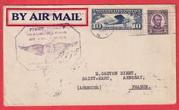 ETATS UNIS 1927 1ER VOL FIRST FLIGHT INAUGURATING BUFFALO ROUTE N°10 AIR MAIL SERVICE 1927 - 1c. 1918-1940 Briefe U. Dokumente