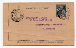 !!! ENTIER DE 1902 CACHET DE PHAMOREA - GUINEE, BLOC DATEUR MANUSCRIT. UN PLI, MAIS BUREAU RR - Lettres & Documents