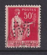 Perforé/perfin/lochung France No 283 M Chemin De Fer Du Midi (10) - Gezähnt (Perforiert/Gezähnt)