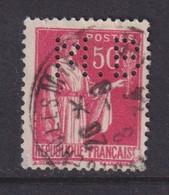 Perforé/perfin/lochung France No 283 M.B Sté Des Mines De Houille De Blanzy - Gezähnt (Perforiert/Gezähnt)