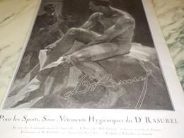 ANCIENNE  PUBLICITE SOUS VETEMENT DU DOCTEUR RASUREL 1920 - Other