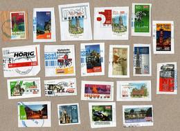 BRD - Privatpost PostModern  - 21 W - Verschiedene Motive (Auto, Tiere, Häuser, Fahrrad, Kirche, Weihnachten) - Privatpost