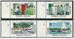 BIOT 1991. Mi.#111/14 MNH/Luxe. State Organs. Postal Service. Navy. Police. Customs (Ts09) - British Indian Ocean Territory (BIOT)