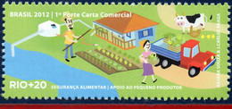 Ref. BR-3218F BRAZIL 2012 ENVIRONMENT, RIO+20, UN, SUPPORT FOR, SMALL PRODUCERS, FARM, TRUCKS, COW, MNH 1V Sc# 3218F - Camions
