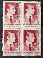 C 525 Brazil Stamp Xa Of Iran Reza Pahlavi 1965 Block Of 4 - Unclassified