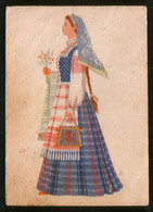 LITHUANIA Old Pc Women's Folk Costume In The Klaipeda Region - Litouwen