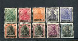 Sarre 1920 Yt 32 34-37 39 41 43-45 * - Nuevos