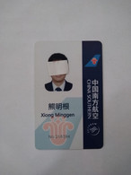 China,Work Permit, Airlines, China Southern, Contactless Card, (1pcs) - Zonder Classificatie