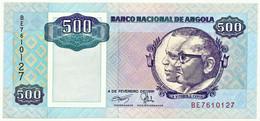 Angola - 500 Kwanzas - 04.02.1991 - Pick 128.b - Unc. - Sign. 17 - Série BE - José Eduardo Dos Santos E Agostinho Neto - Angola