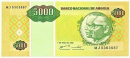 Angola - 5000 Kwanzas - 01.05.1995 - Pick 136 - Unc. - Série MJ - José Eduardo Dos Santos E Agostinho Neto 5 000 - Angola