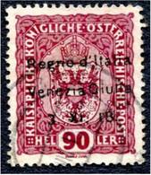 AUSTRIA 1918 - ITALY OCCUPATION OVERPRINT - VERY RARE 90-HELLER - TRIESTE ISSUE - (418) - Usati