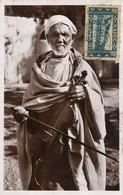 Mendiant Musicien Violon Real Photo  Beggar Violin Player Stamped Morocco To Puylaurens Tarn . Close Up - Other