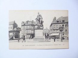 SAINT QUENTIN  -  02  -  La Place Et Le Monument Du 8 Octobre 1870   - AISNE - Saint Quentin