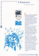 """"""" EUROPA 2006 : L'INTEGRATION """" Sur Document Philatélique Officiel De 2006  N° YT 3902. Parfait état. DPO - 2000-2009"""