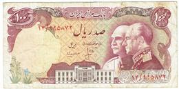 Iran - Billet De 100 Rials - Shah Pahlavi & Shah Reza - Non Daté (1976) - P108 - Iran