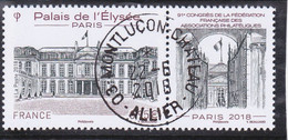 FRANCE 2018 -  Timbre Oblitéré Gommé Dentelé  N5221 PALAIS DE L ELYSEE (beau Cachet Rond) - 2010-.. Matasellados