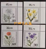 Germany Berlin 1980 Charity Stamps Herbal Plants Wild Herbs Flowers Flora Flower Medicinal Plant Nature MNH - Heilpflanzen