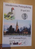 A.Buzin A5 Kaart Attenhoven 2011 - 1985-.. Oiseaux (Buzin)