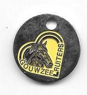 Jeton  De  Caddie ( Winkelwagen Token ) Néerlandais  Animal  CHEVAL  GOUWZEE  RUITERS  ( CAVALIERS GOUWZEE ) - Jetons De Caddies