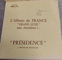 20 FEUILLES PRESIDENCE CERES FRANCE - ANNEES 1970 A 1974 INCLUS NEUVES JAMAIS UTILISEES SANS TIMBRES - Pre-printed Pages