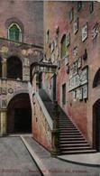 FIRENZE SCALA DEL PALAZZO DEL PODESTA' FORMATO PICCOLO VIAGGIATA 1918 - Firenze (Florence)