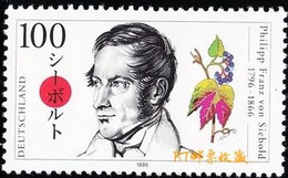 Germany 1996 - One 200th Anniversary Of The Birth Of Philipp Franz Von Siebold Famous People Plants Stamp MNH - Ohne Zuordnung