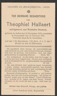 Aalter, Aeltre, 1931, Theophiel Hallaert, De Pauw - Imágenes Religiosas