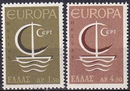 GRIECHENLAND 1966 Mi-Nr. 919/20 ** MNH - Nuovi