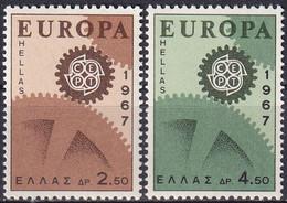 GRIECHENLAND 1967 Mi-Nr. 948/49 ** MNH - Nuovi