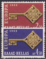 GRIECHENLAND 1968 Mi-Nr. 974/75 ** MNH - Nuovi