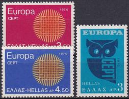 GRIECHENLAND 1970 Mi-Nr. 1040/42 ** MNH - Nuovi