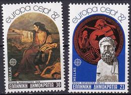 GRIECHENLAND 1982 Mi-Nr. 1481/82 ** MNH - Nuevos