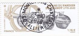 FRANCE 2020 -  Timbre Oblitéré Gommé Dentelé N5435 FARDIER DE CUGNOT (beau Cachet Rond) - 2010-.. Matasellados
