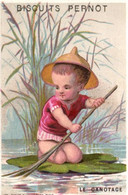Chromos - Biscuits Pernot - Dijon - Le Canotage - Enfant - E 5125 - Pernot