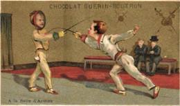 Chromos - Chocolat Guérin-Boutron - Paris - Enfants - Escrime - E 5126 - Guerin Boutron