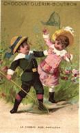 Chromos - Chocolat Guérin-Boutron - Paris - Enfants - La Chasse Aux Papillons - Epuisette - E 5134 - Guerin Boutron